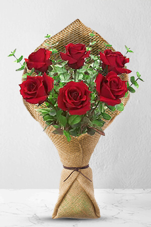 6 long stem premium rose bouquet zflowerscom